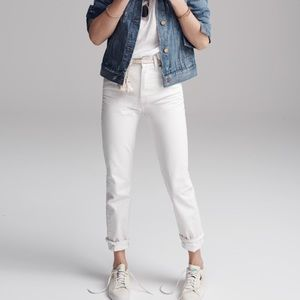 Madewell Straight Crop Jean in White
